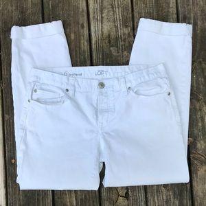 Loft white boyfriend jeans size 6